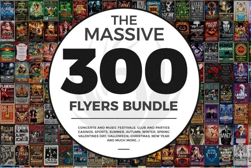 Massive 300 Flyers Bundle