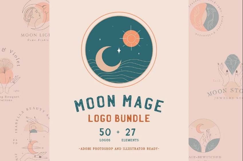 Massive Moon Logo Bundle