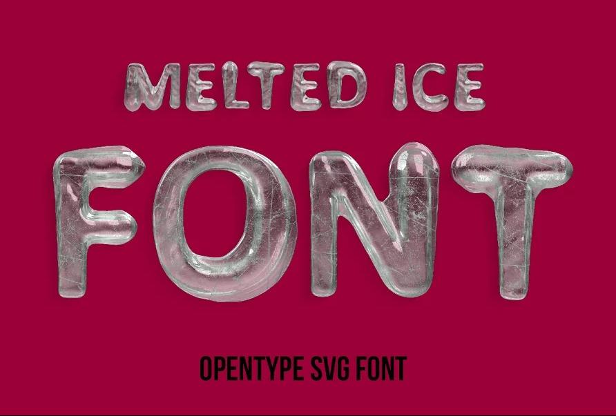 Melting Ice Fonts