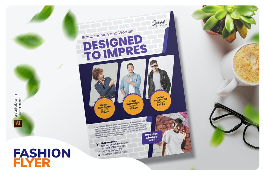 Mens Fashion Flyer Design