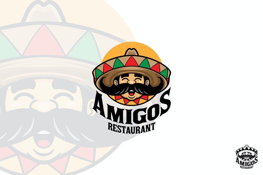 Mexican Restaurant Mascot Logo