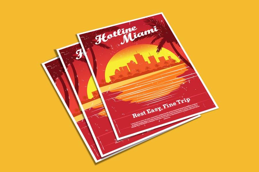 Miami Flyer Design Template