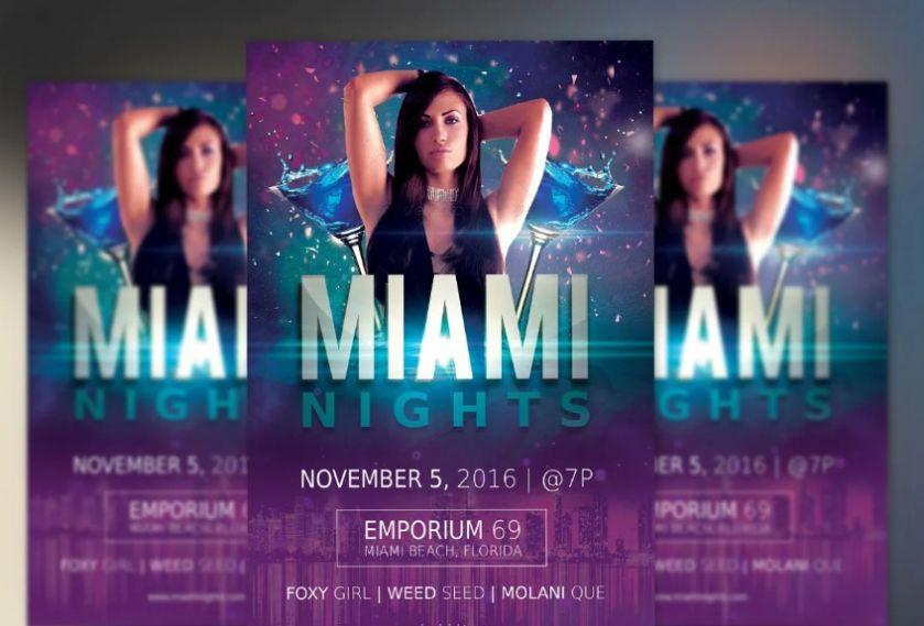 Miami Night Concert Flyer