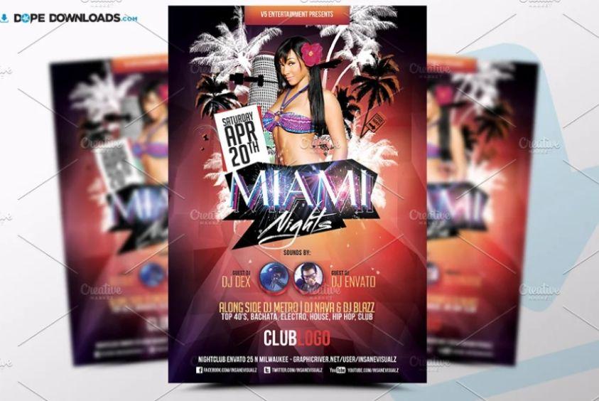 Miami Nights Party Flyer