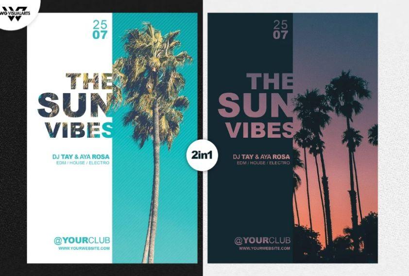 Miami Party Flyer Templates