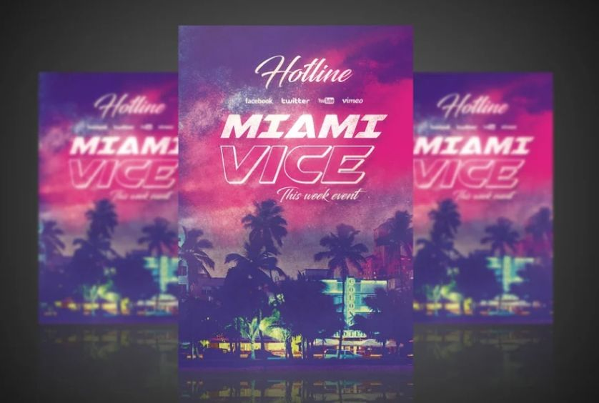 Miami Vice Flyer Layout