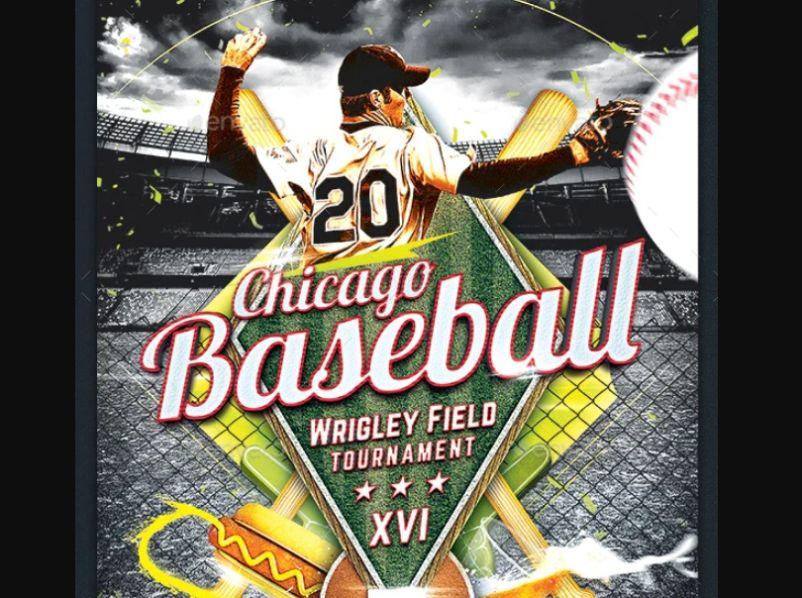 Minimal Baseball Night Flyer