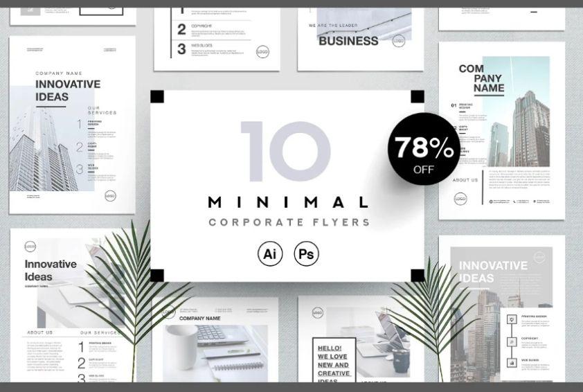 Minimal Business Card Flyers Bundle