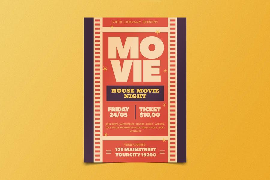 Minimal Movie Flyer Design