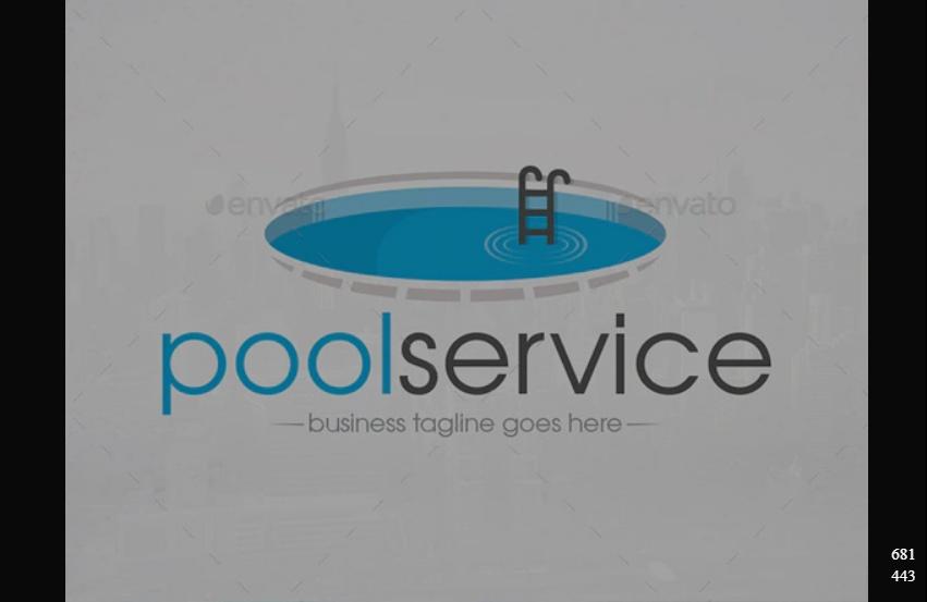 Minimal Pool Services Logo