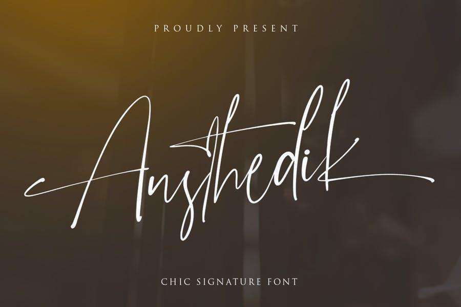Minimalistic Signature Typeface