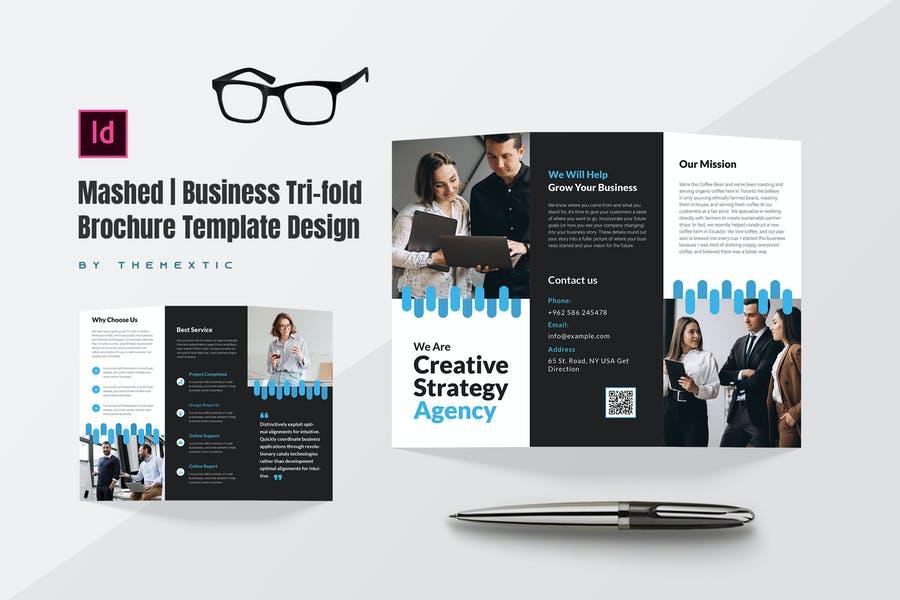 Minimalistic Tri Fold Brochure Design