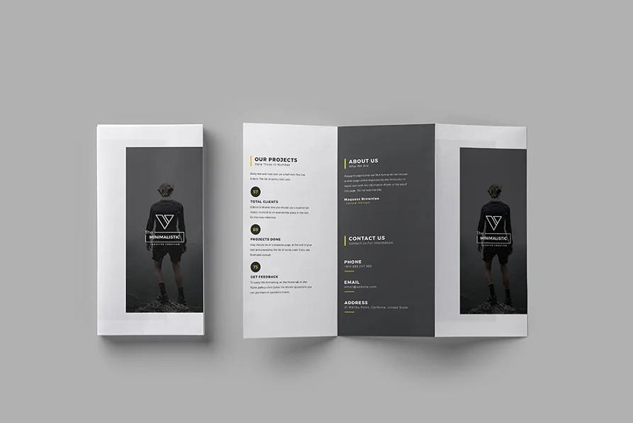 Minimalistic Tri Fold Brochure Templates