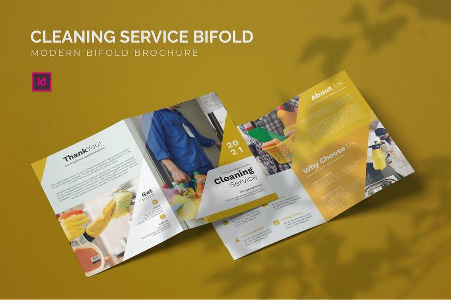 Modern Bi Fold Brochure Template
