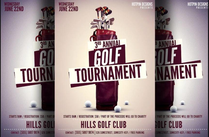 Modern Golf Championship Flyer