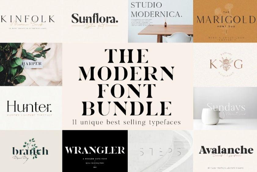 Modern Logo Font Duo
