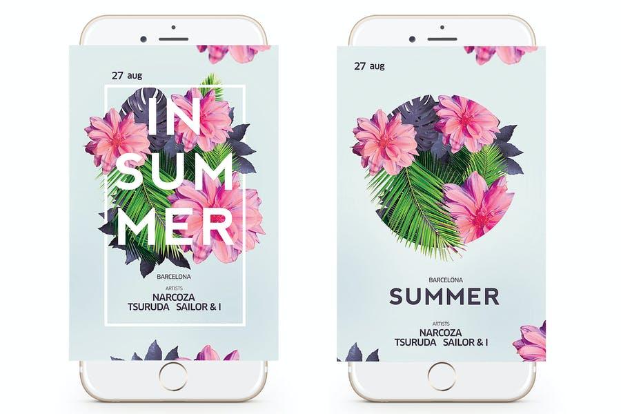 Modern Summer Party Invite Flyer