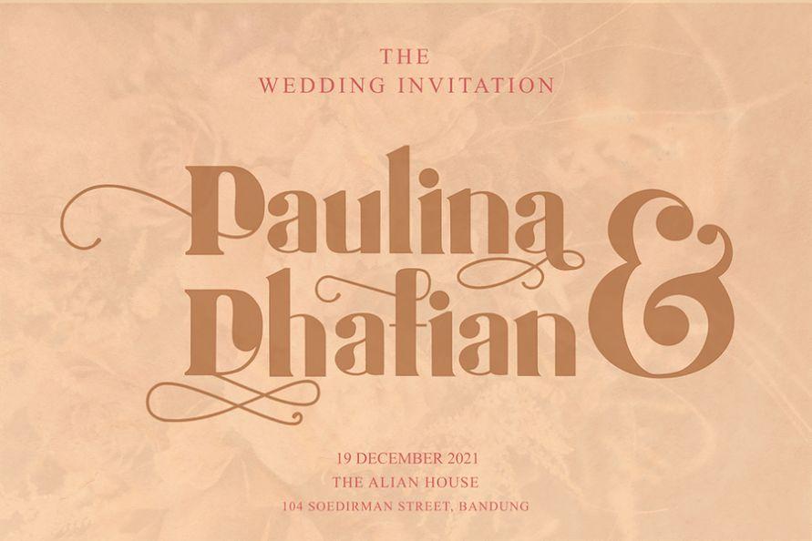 Modern Wedding Calligraphy Fonts