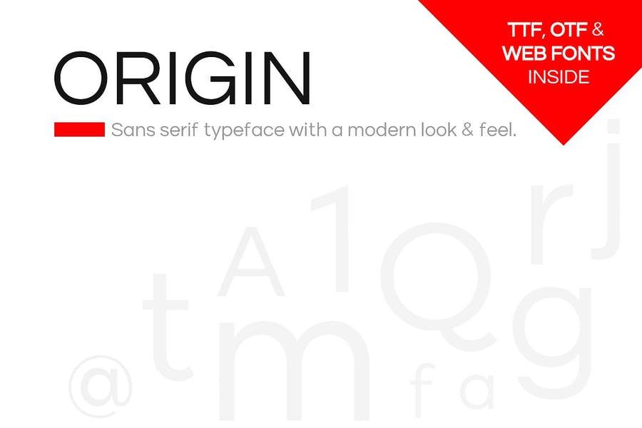 Modern and Minimal Geometric Fonts