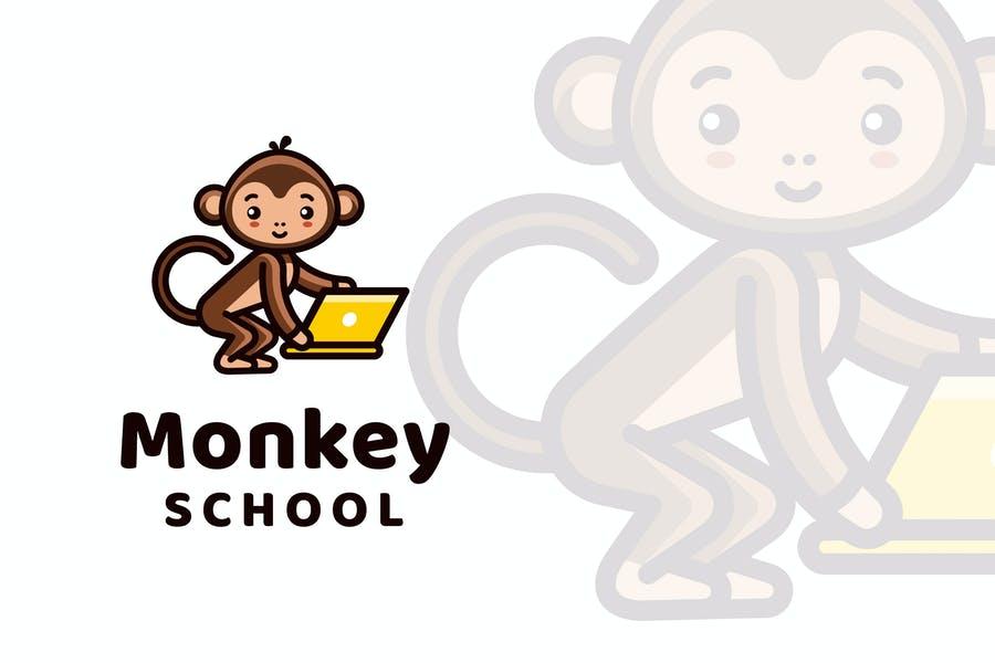 Monkey Themed Logo Design