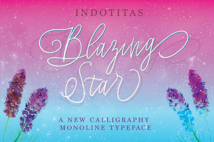 Monoline Calligraphy Fonts