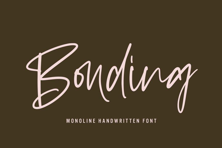 Monoline Cursive Fonts