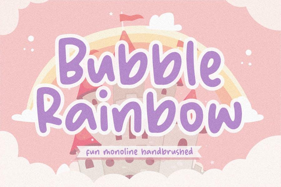 Monoline Rainbow Cute Typeface