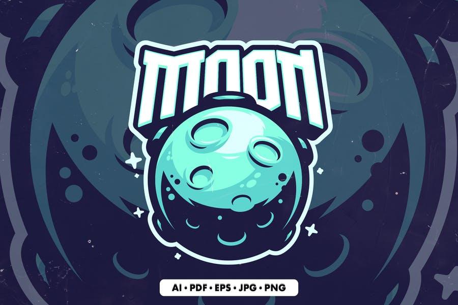 Moon Mascot Logo Template