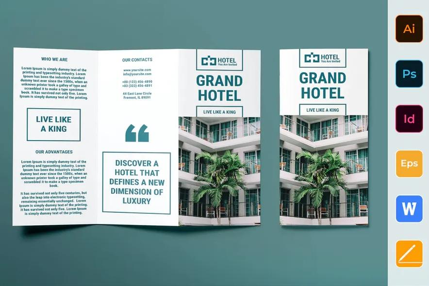 Motel Branding Brochure Template