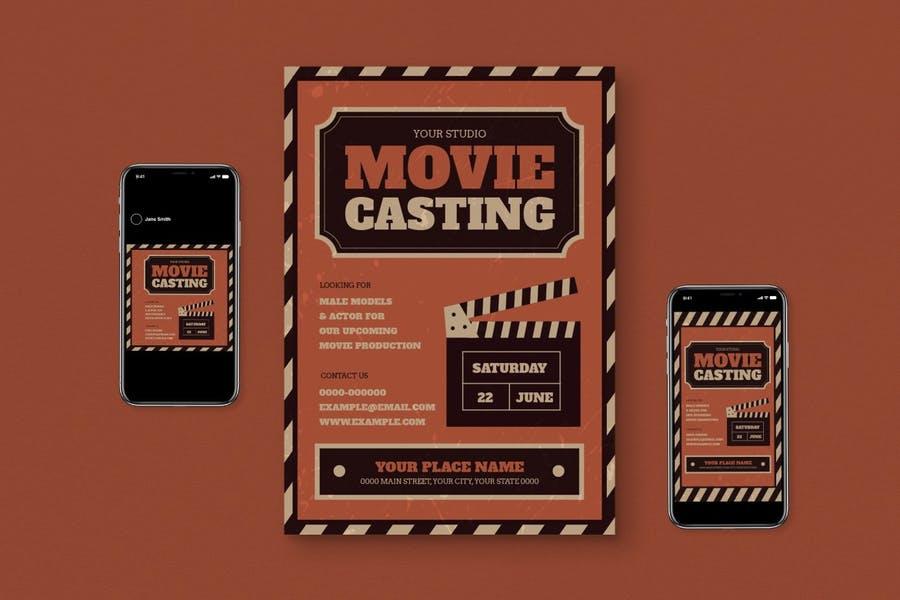 Movie Casting Call Flyer Set