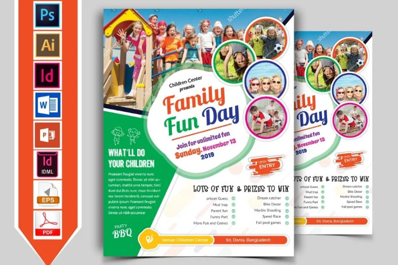 Multi Format Family Day Flyers