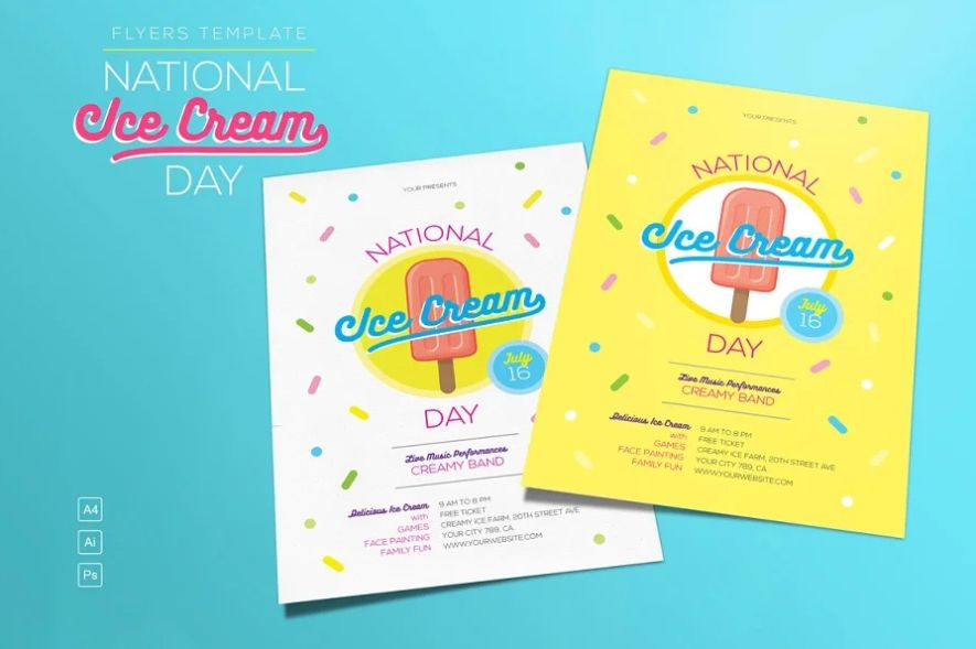 National Ice Cream Day Flyer