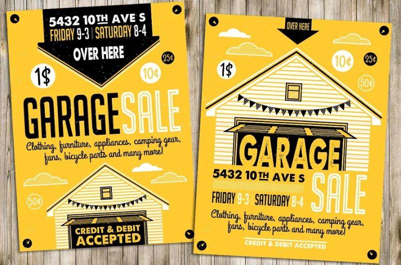 Neighborhood Sale Flyer Templates