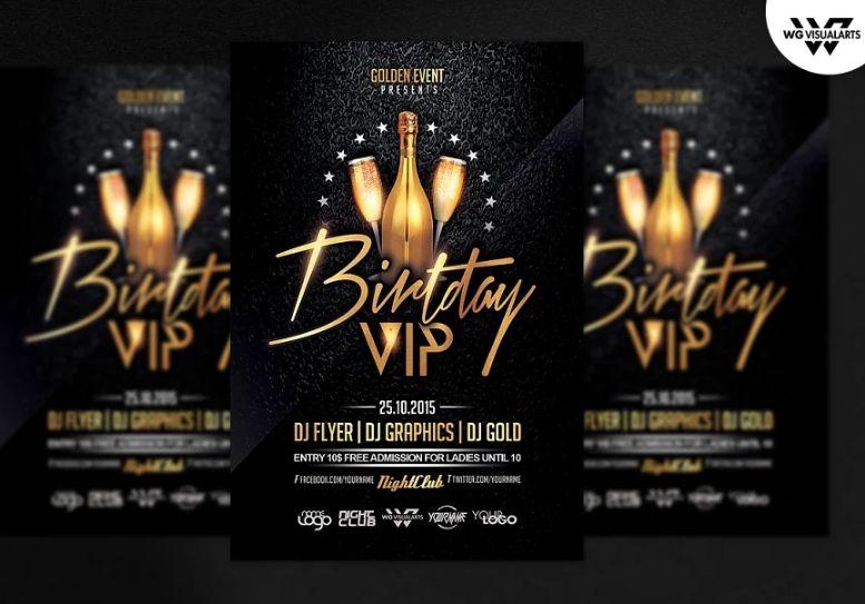 Night Club Birthday Party Flyer