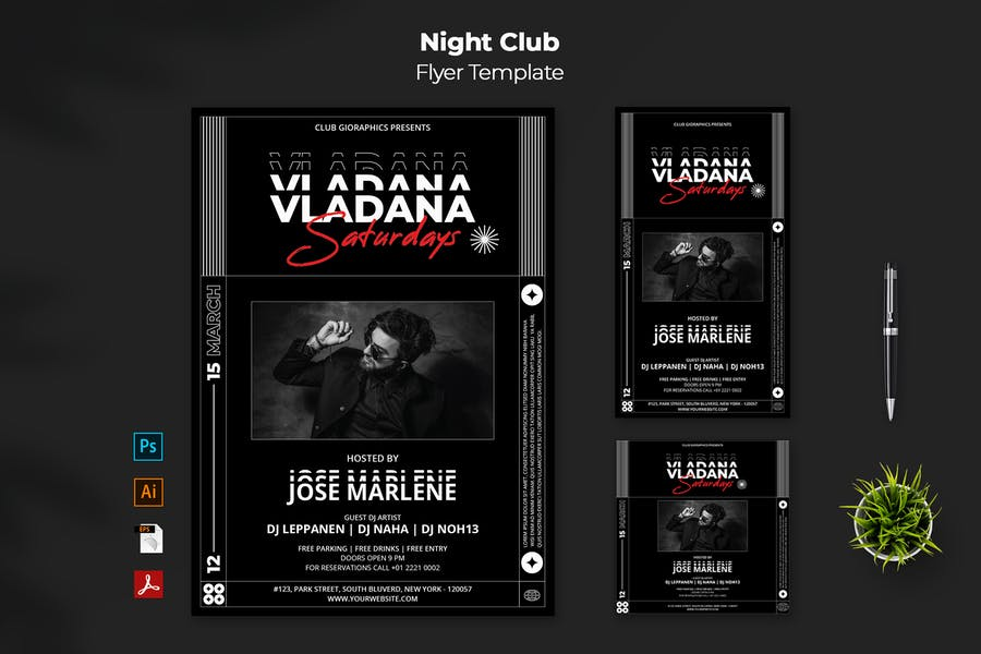 Night Party Stories and Post Design
