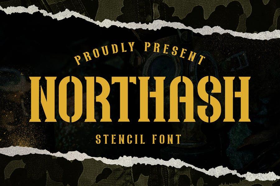 Old School Stencil Typeface