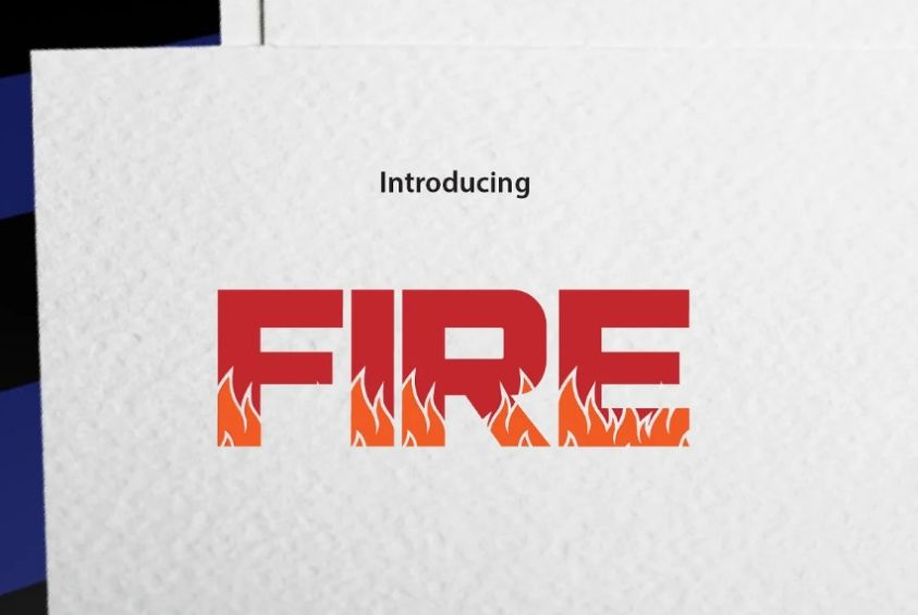 On Fire Effect Typeface