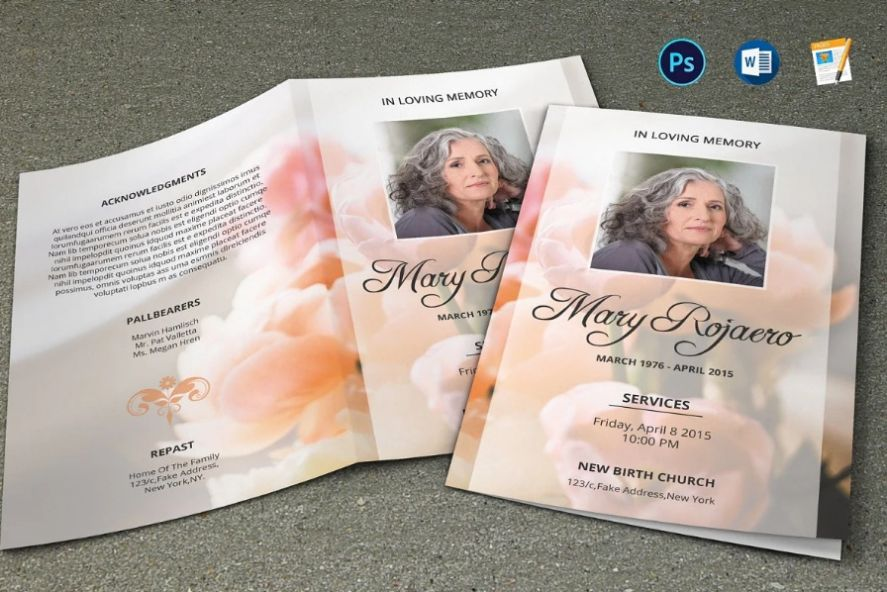 PSD and Word Funeral Brochure Template
