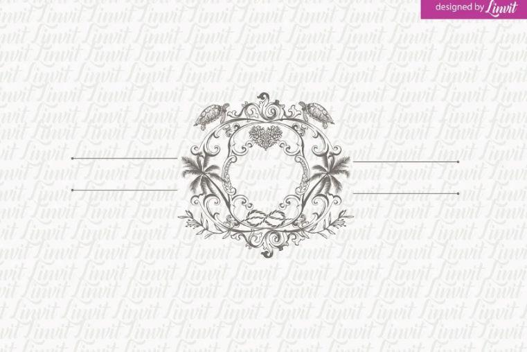 Palm Tree Wedding Logo Design