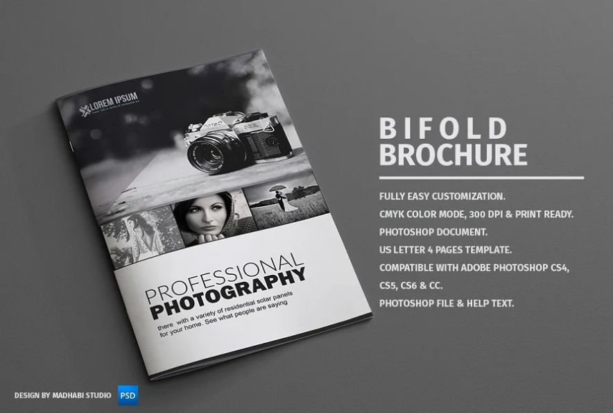 Photography Bi Fold Brochure