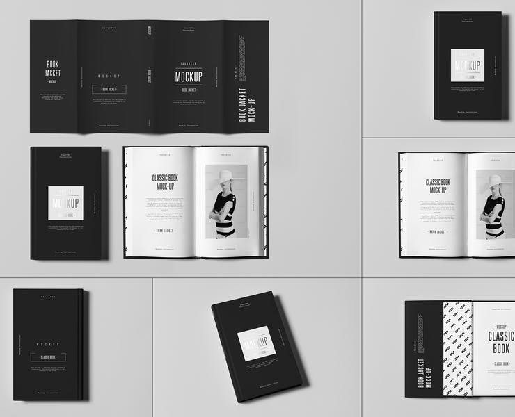 11+ Best Dust Jacket Book Mockup PSD Download