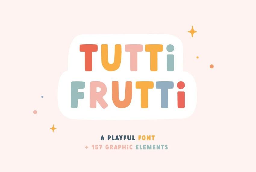 Playful tutti frutti fonts