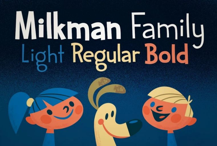 Playful Milkful Fonts