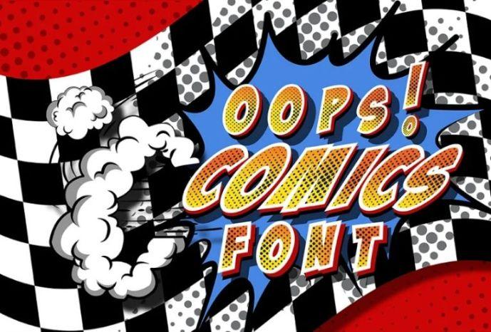 Pop Art Styled Comics Font