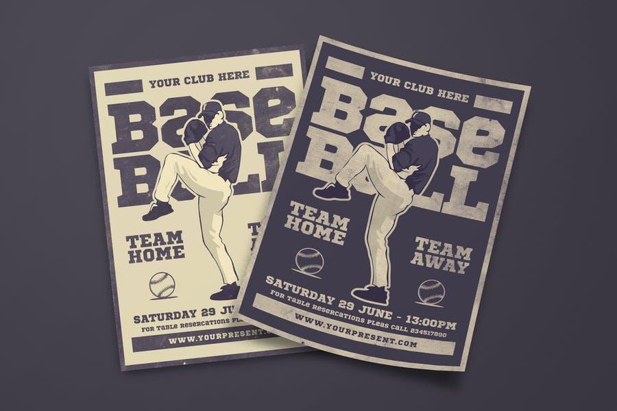 Print Ready Baseball Flyer