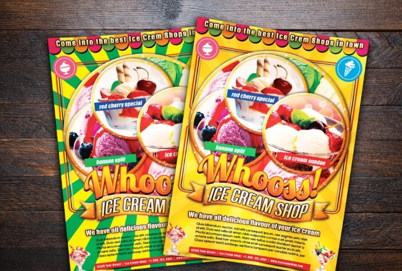Print Ready Ice Cream Shop Flyer