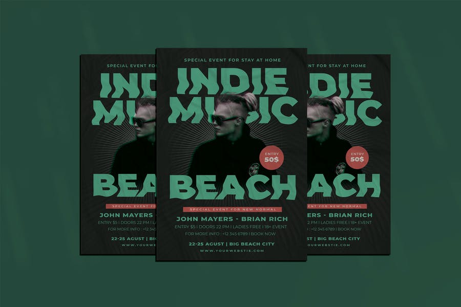 Print Ready Indie Music Flyer