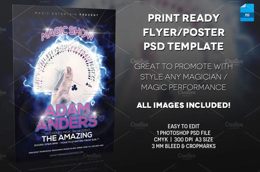 Print Ready Magic Show Flyer