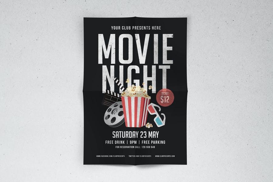Print Ready Movie Flyer