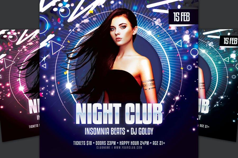 Print Ready Night Club Flyer